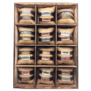 12 Compartment Tray with Natural Cushions
