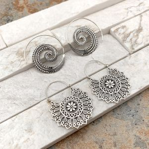 Tanvi Collection Earrings Prepack - 12 Silver, No Display