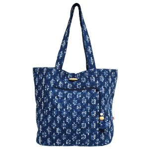 Indigo Palms Tote Bag