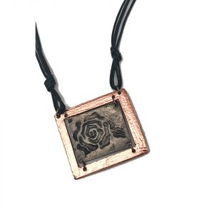 Pewter Necklace - Rose