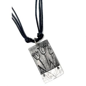 Pewter Necklace - Tulips